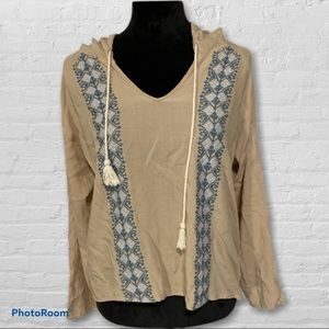 Altar'd State hoodie embroidered boho top